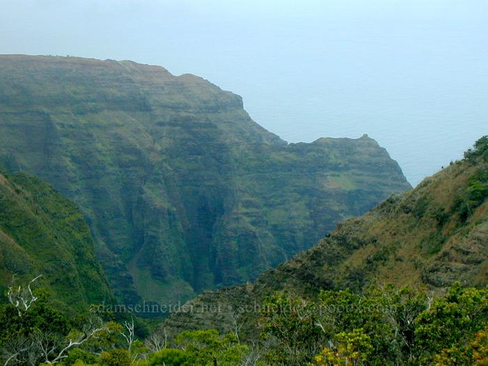 Nu'alolo Valley [Honopu Trail, Na Pali Coast, Kaua'i, Hawaii]