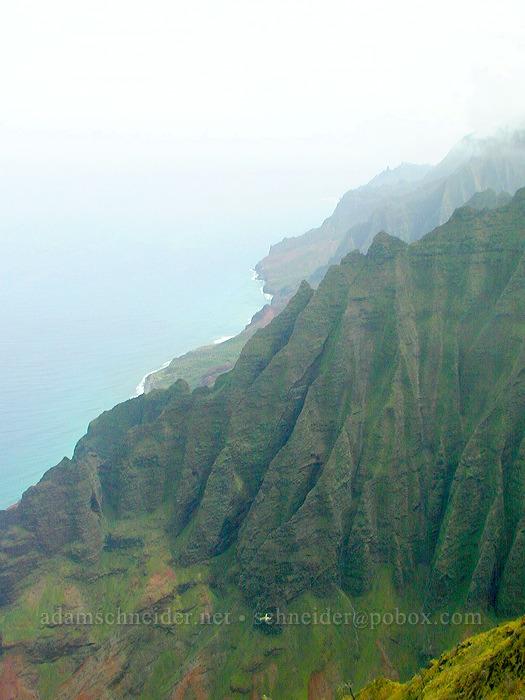 Na Pali Coast (all the way to Ke'e Beach) [Honopu Trail, Na Pali Coast, Kaua'i, Hawaii]