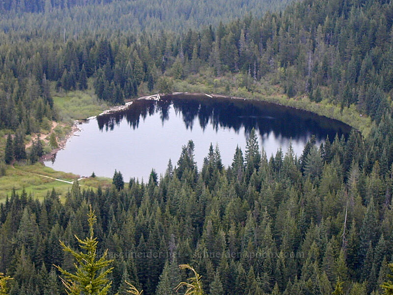 Mirror Lake from above [Tom Dick & Harry Mountain, Mt. Hood National Forest, Oregon]