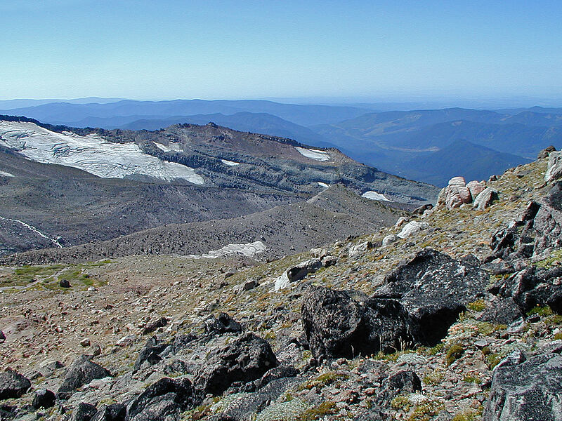 view to the northwest [Bottom of Barrett Spur, Mt. Hood Wilderness, Oregon]