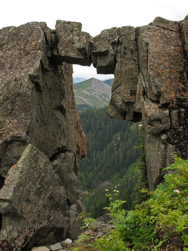 rock arch [Ed's Trail, Silver Star Mountain, Gifford Pinchot National Forest, Washington]