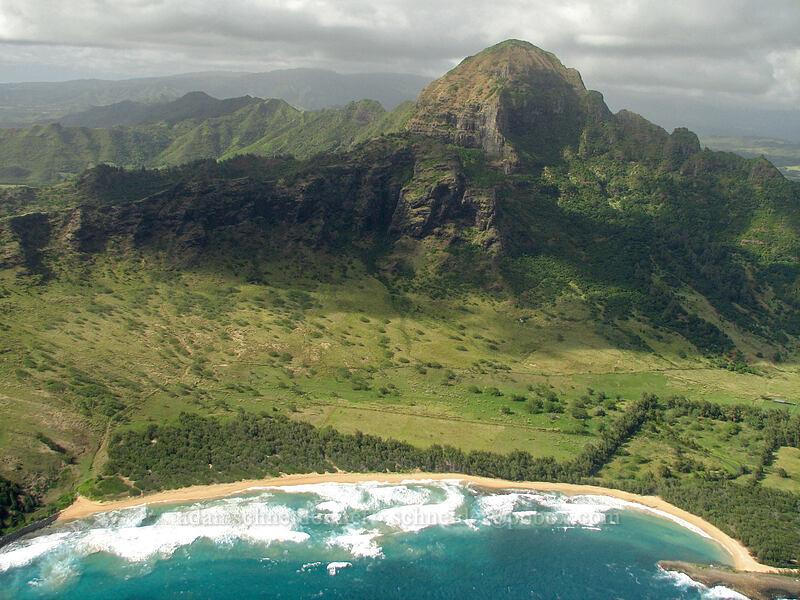 Ha'upu & Kipu Kai [airplane tour, Kaua'i, Hawaii]