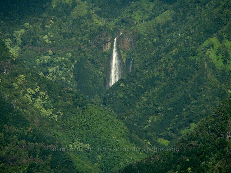 Manawaiopuna Falls [airplane tour, Kaua'i, Hawaii]