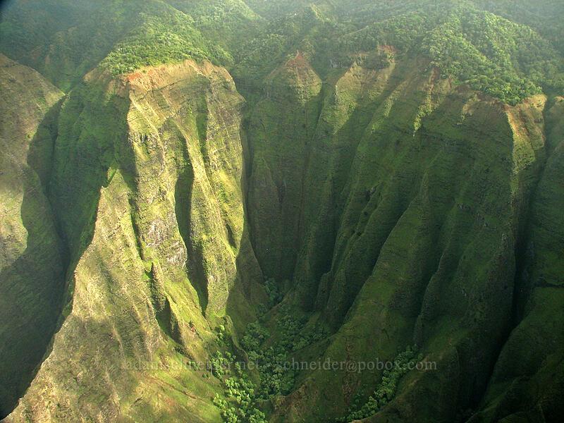 Nu'alolo Valley [airplane tour, Kaua'i, Hawaii]