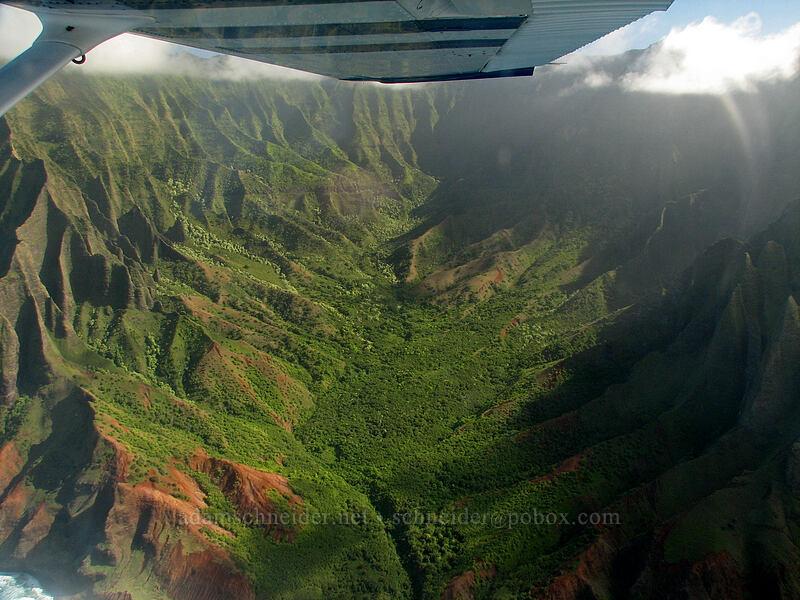 Kalalau Valley [airplane tour, Kaua'i, Hawaii]