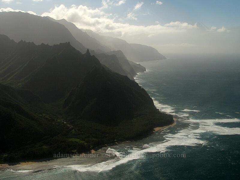 Makana Ridge & Na Pali Coast [airplane tour, Kaua'i, Hawaii]