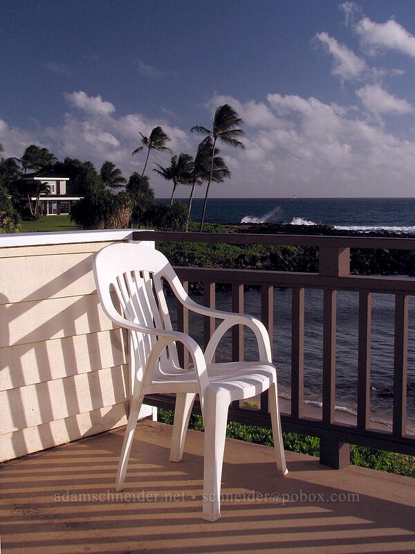 afternoon on the lanai [Hale 'Ohe, Po'ipu, Kaua'i, Hawaii]