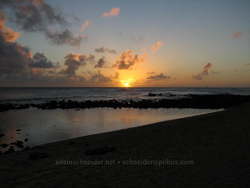 sunset [Hale 'Ohe, Po'ipu, Kaua'i, Hawaii]