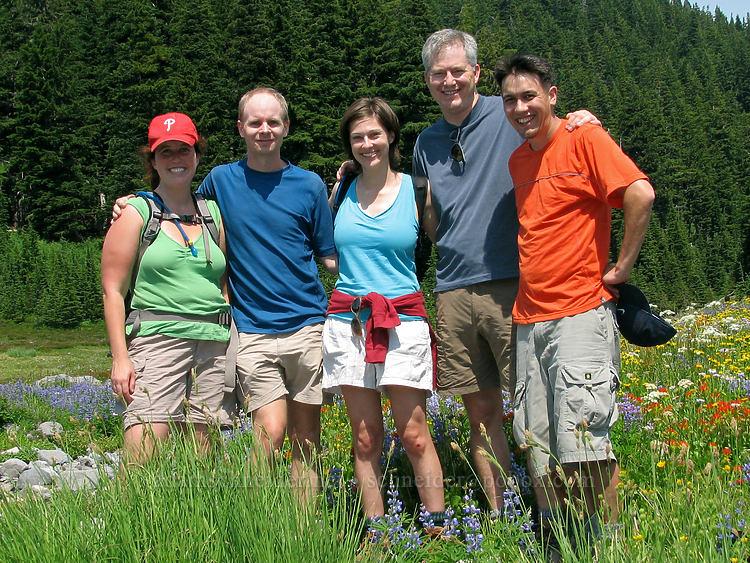 Tracy, Adam, Allie, Duane, & Arne [Breitenbush River, Jeff. Park, Mt. Jefferson Wilderness, Oregon]