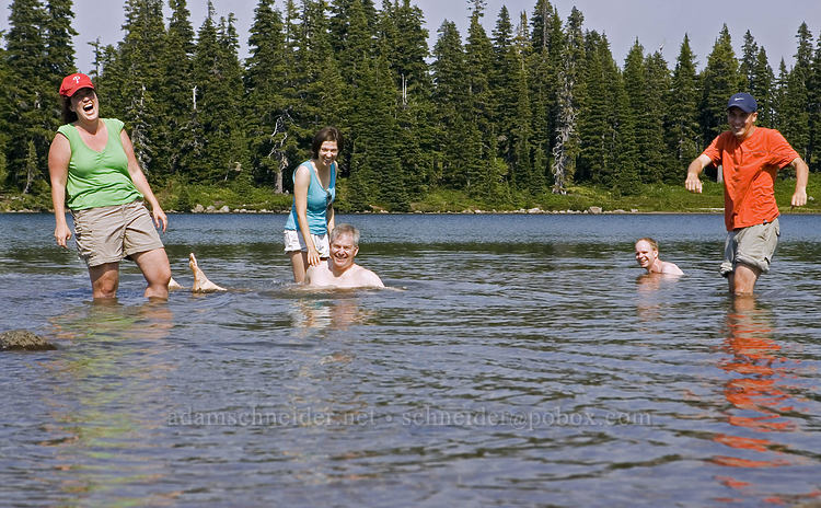 Tracy, Allie, Duane, Adam, & Arne [Scout Lake, Jefferson Park, Mt. Jefferson Wilderness, Oregon]