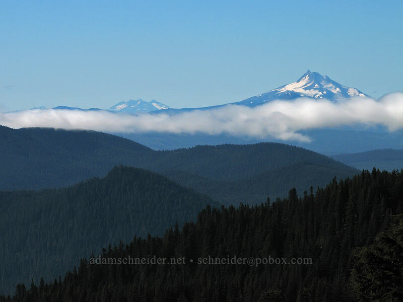 Mount Jefferson & Three Sisters [Mount Hood Meadows, Mt. Hood National Forest, Oregon, United States]