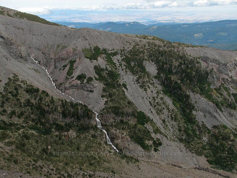 glacial waterfalls & Gnarl Ridge [Newton-Clark Ridge, Mt. Hood National Forest, Oregon, United States]