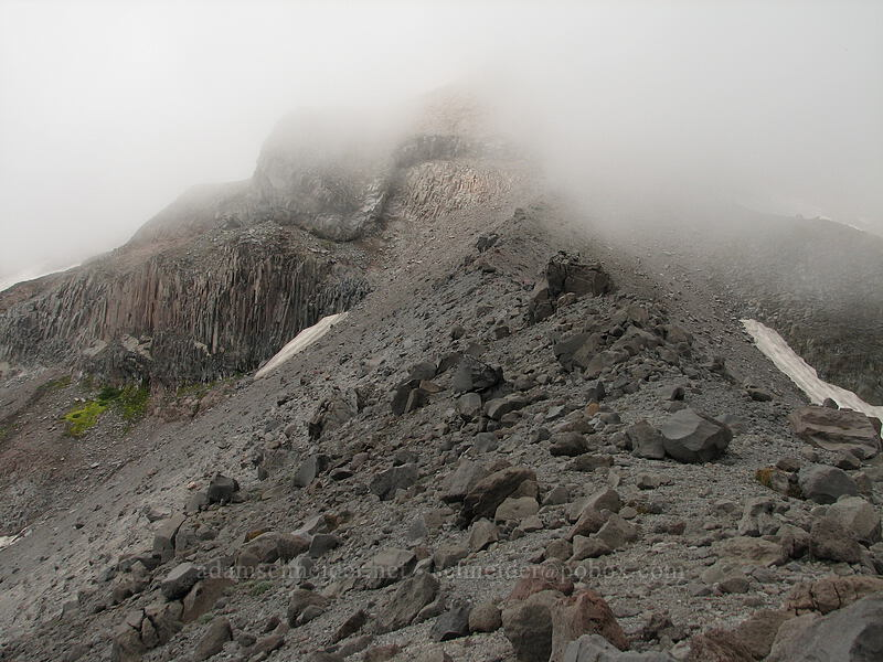 Mount Hood, obscured by clouds [Newton-Clark Ridge, Mt. Hood National Forest, Oregon, United States]