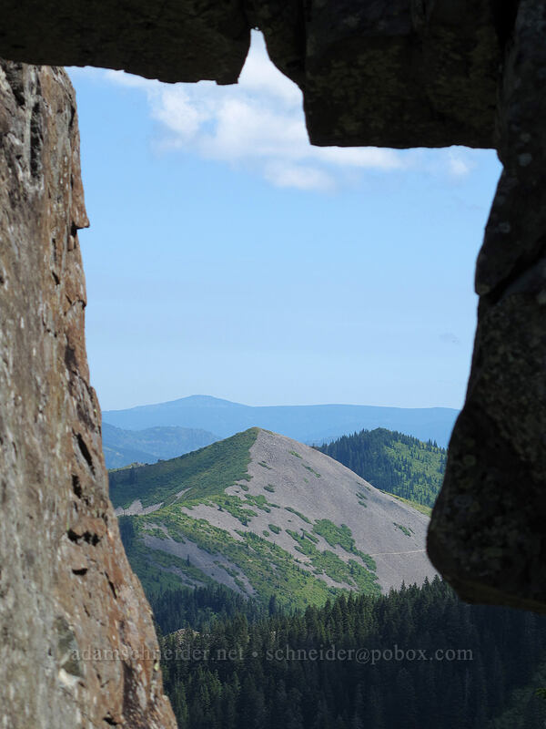 Little Baldy through the arch [Ed's Trail, Silver Star Mountain, Gifford Pinchot Nat'l Forest, Washington]