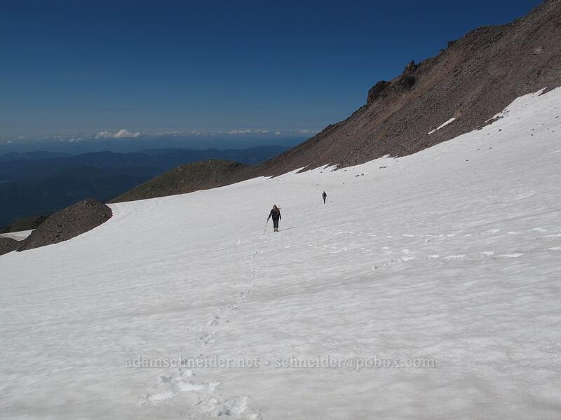 Allison & Tracy [Ladd Glacier, Mt. Hood Wilderness, Oregon]