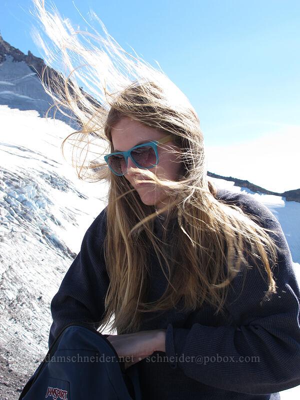 Allison, windy [Barrett Spur, Mt. Hood Wilderness, Oregon]