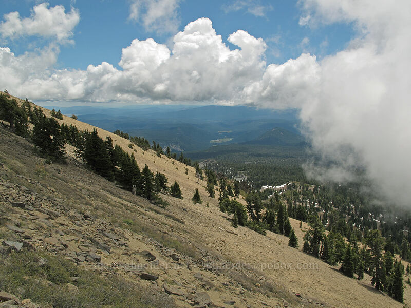 view to the southeast [Brokeoff Mountain Trail, Lassen Volcanic National Park, California]