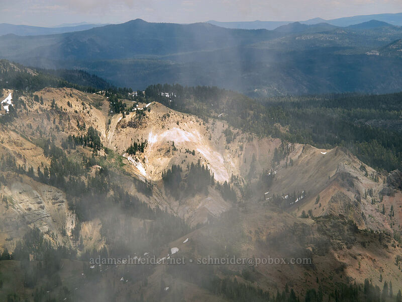 Little Hot Springs Valley [Brokeoff Mountain summit, Lassen Volcanic National Park, California]