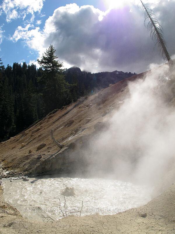 boiling mud pool [Sulphur Works, Lassen Volcanic National Park, California]