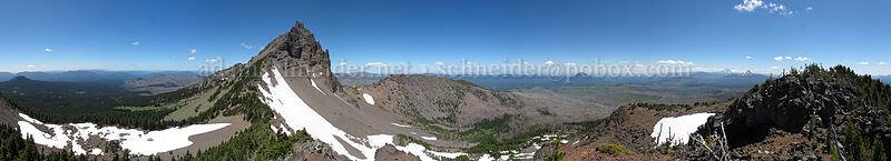Three-Fingered Jack panorama [south ridge of Three-Fingered Jack, Mt. Jefferson Wilderness, Oregon]