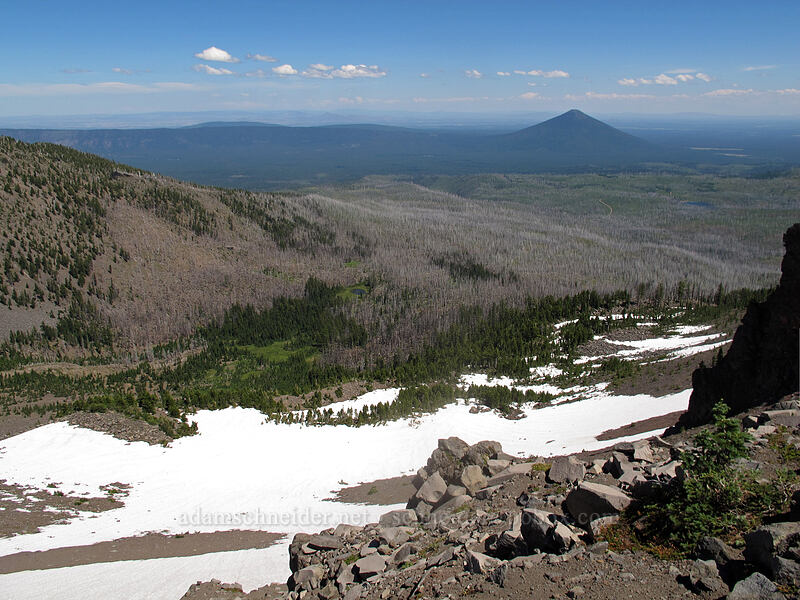 First Creek Meadows & Black Butte [south ridge of Three-Fingered Jack, Mt. Jefferson Wilderness, Oregon]