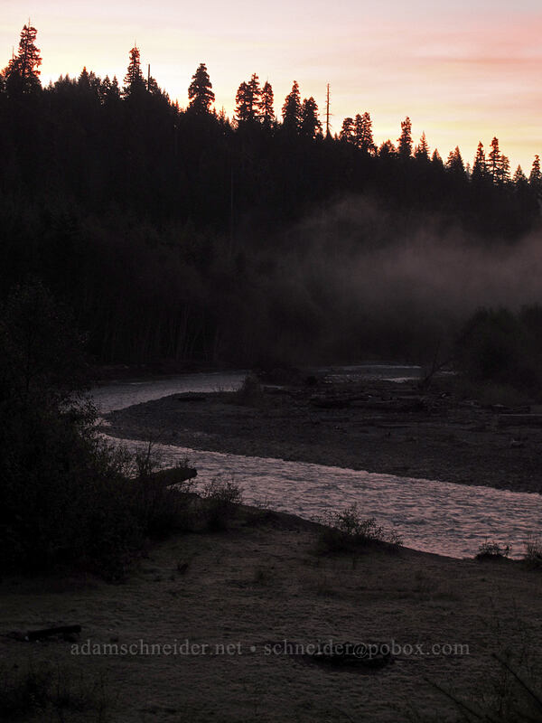 Muddy River at sunrise [Forest Road 25, Gifford Pinchot National Forest, Washington]