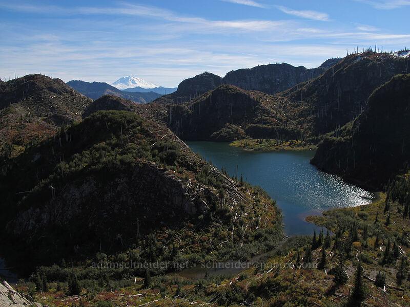 Panhandle Lake & Mt. Adams [Lakes Trail, Mt. St. Helens National Volcanic Monument, Washington]