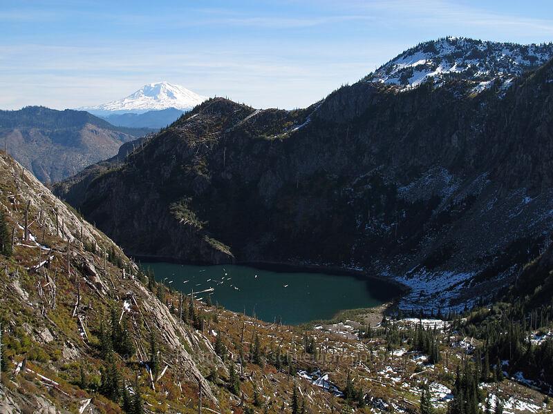 Mt. Adams & Shovel Lake [Lakes Trail, Mt. St. Helens National Volcanic Monument, Washington]