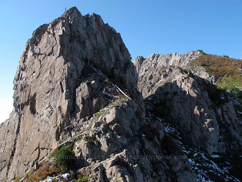 Whittier Ridge pinnacles [Mt. Whittier Trail, Mt. St. Helens National Volcanic Monument, Washington]