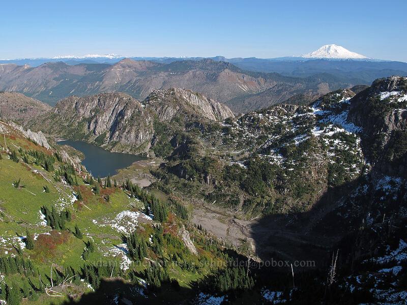 Boot Lake & Mt. Adams [Mt. Whittier Trail, Mt. St. Helens National Volcanic Monument, Washington]