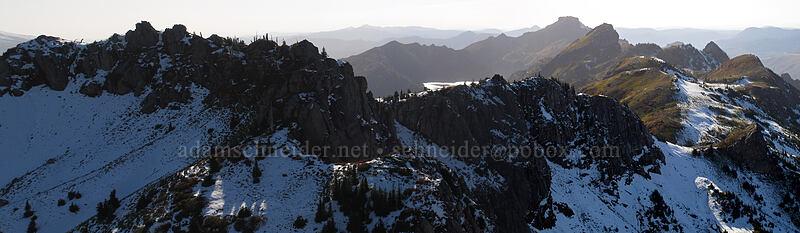 Mt. Margaret, St. Helens Lake, Coldwater Peak, & The Dome [Mt. Teragram, Mt. St. Helens National Volcanic Monument, Washington]