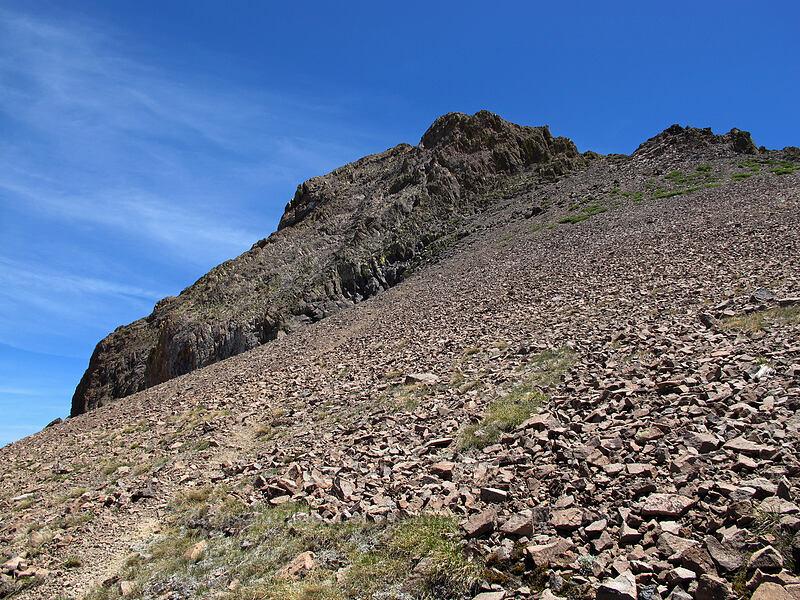 scree slope leading to Round Top [Round Top, Mokelumne Wilderness, California]