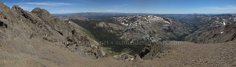 Round Top panorama [Round Top summit, Mokelumne Wilderness, California]