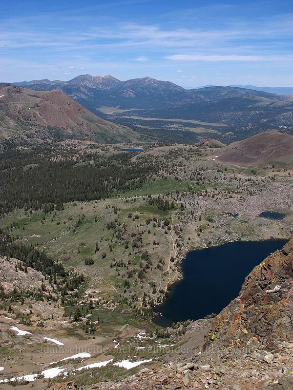 Lake Winnemucca, Red Lake Peak, & the Freel Peak massif [Round Top summit, Mokelumne Wilderness, California]