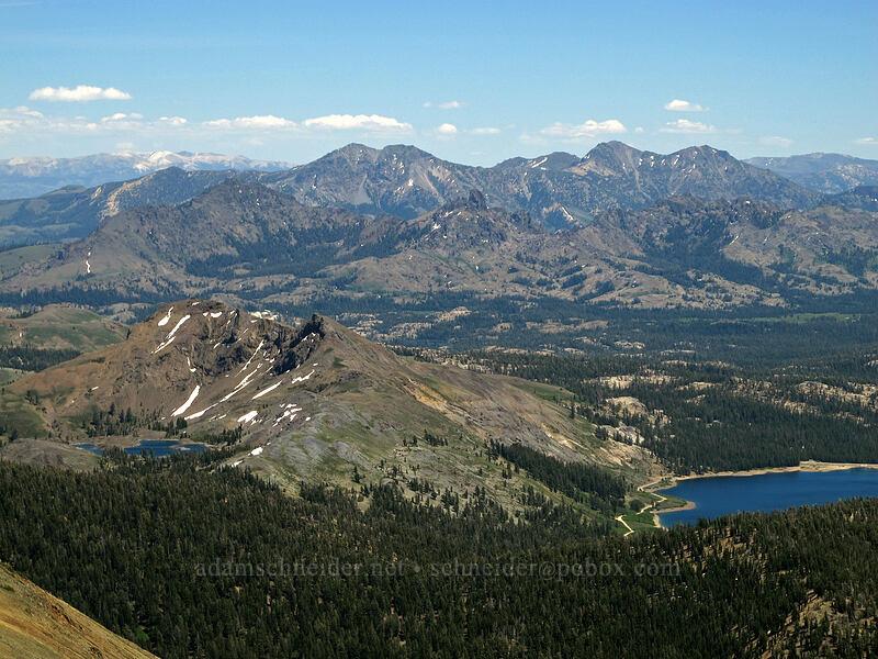 mountains to the southeast [Round Top summit, Mokelumne Wilderness, California]