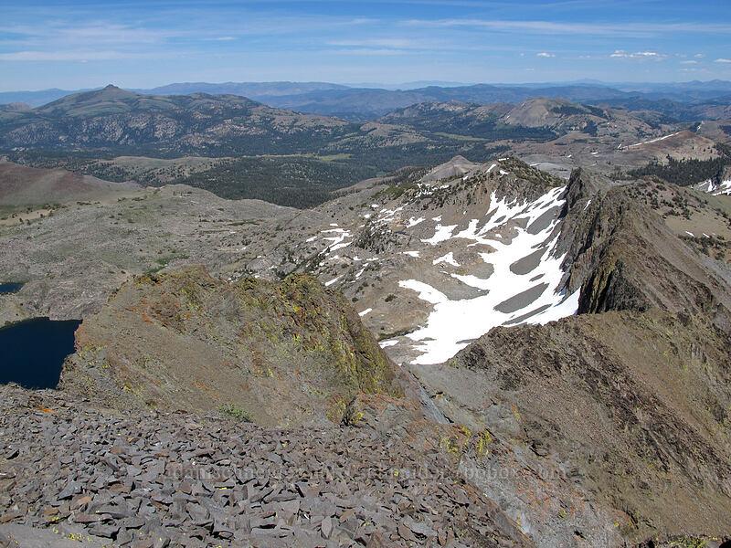 view to the northeast [Round Top summit, Mokelumne Wilderness, California]