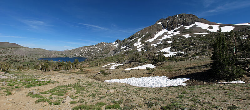 Round Top & Winnemucca Lake panorama [Winnemucca Lake-Round Top Lake Trail, Mokelumne Wilderness, California]