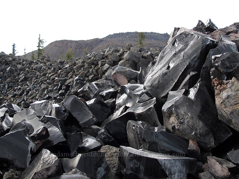 obsidian [Glass Mountain, Modoc National Forest, California]