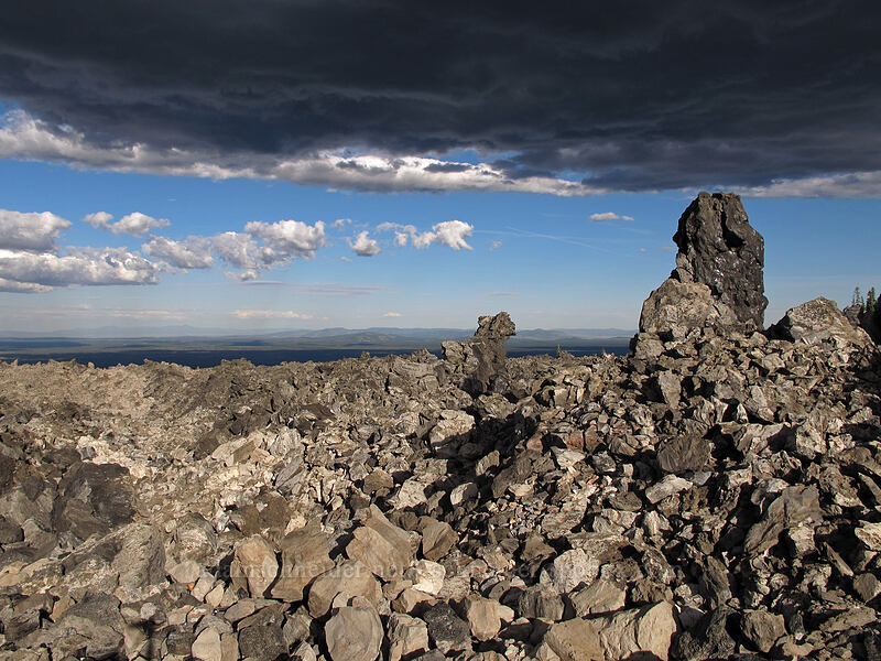 lava flows & evening clouds [Glass Mountain, Modoc National Forest, California]
