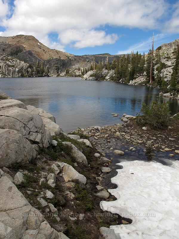 Lake Le Conte & melting snow [Pacific Crest Trail, Desolation Wilderness, California]