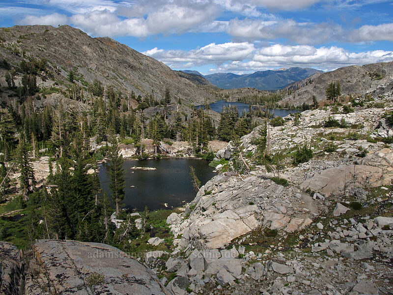 an unnamed lake & Heather Lake [Pacific Crest Trail, Desolation Wilderness, California]