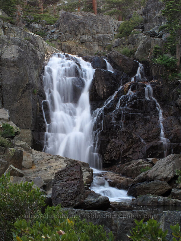 waterfall on Glen Alpine Creek [Glen Alpine Road, Lake Tahoe Basin, California]