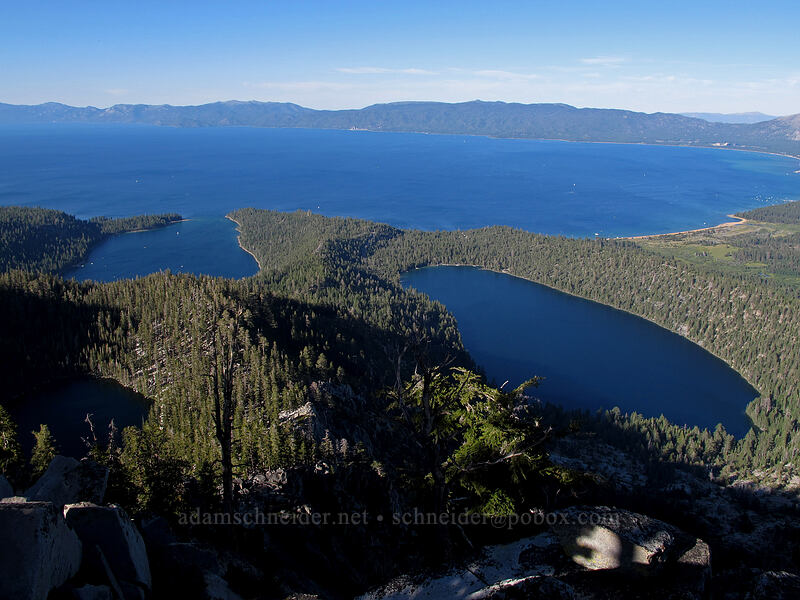 Emerald Bay, Cascade Lake, & Granite Lake [Maggie's Peak South, Desolation Wilderness, California]