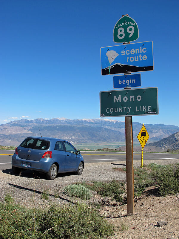 Mono County line [CA-89, Toiyabe National Forest, California]