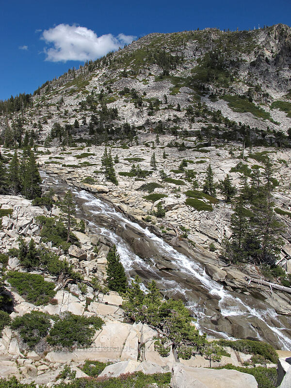 top of Horsetail Falls [Pyramid Creek, Desolation Wilderness, California]