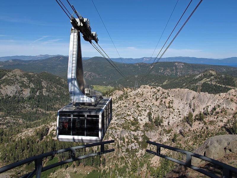 approaching tram car [High Camp, Squaw Valley, California]
