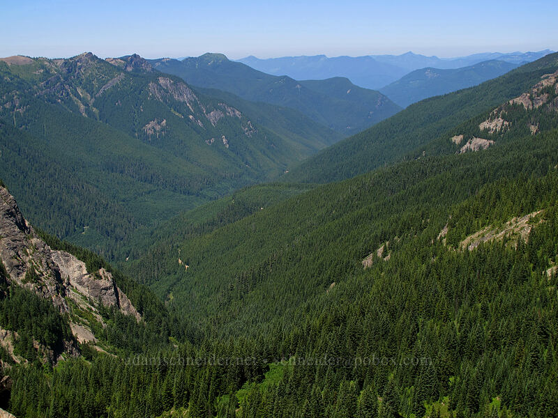 Langille Peak & McCoy Creek Valley [Peak 5445, Gifford Pinchot National Forest, Washington]