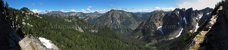 panorama from the Kendall Katwalk [Pacific Crest Trail, Alpine Lakes Wilderness, Washington]