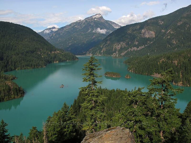 Davis Peak & Diablo Lake [Diablo Lake Overlook, North Cascades National Park, Washington]