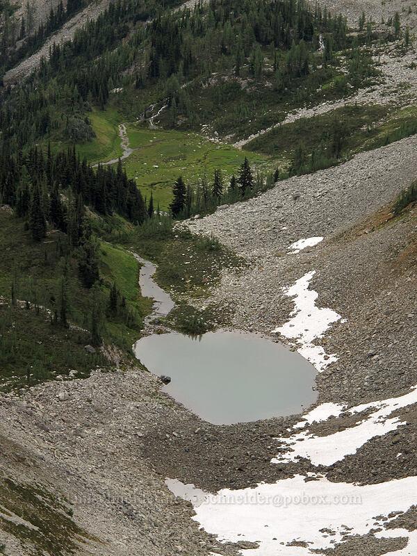 pond above Rainy Lake [Maple Pass Trail, Okanogan-Wenatchee National Forest, Washington]